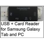 USB + Card Reader for Samsung Galaxy Tab and PC