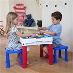 כתר פלסטיק 17201603 שולחן משחק + 2 שרפרפים