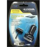 מטען USB שתי כניסות לרכב + כבל לאייפד