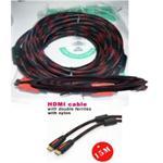 Cable nylon with ferrite core HDMI - HDMI