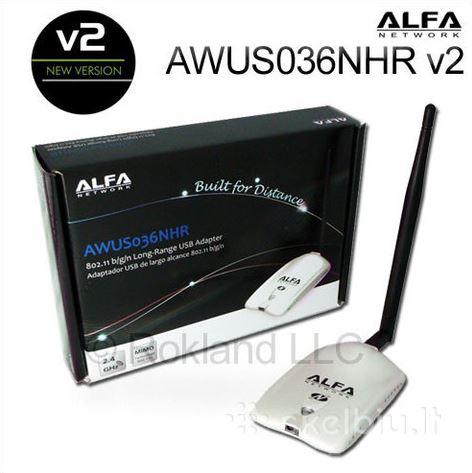 כרטיס רשת אלחוטית ALFA AWUS036NHR V.2 בעל טווח קליטה רחב במיוחד בחיבור USB לקליטת WIFI