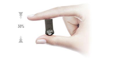 זכרון נייד SILICON POWER TOUCH T01 USB 2.0 32GB - מתאים במיוחד למחזיק מפתחות