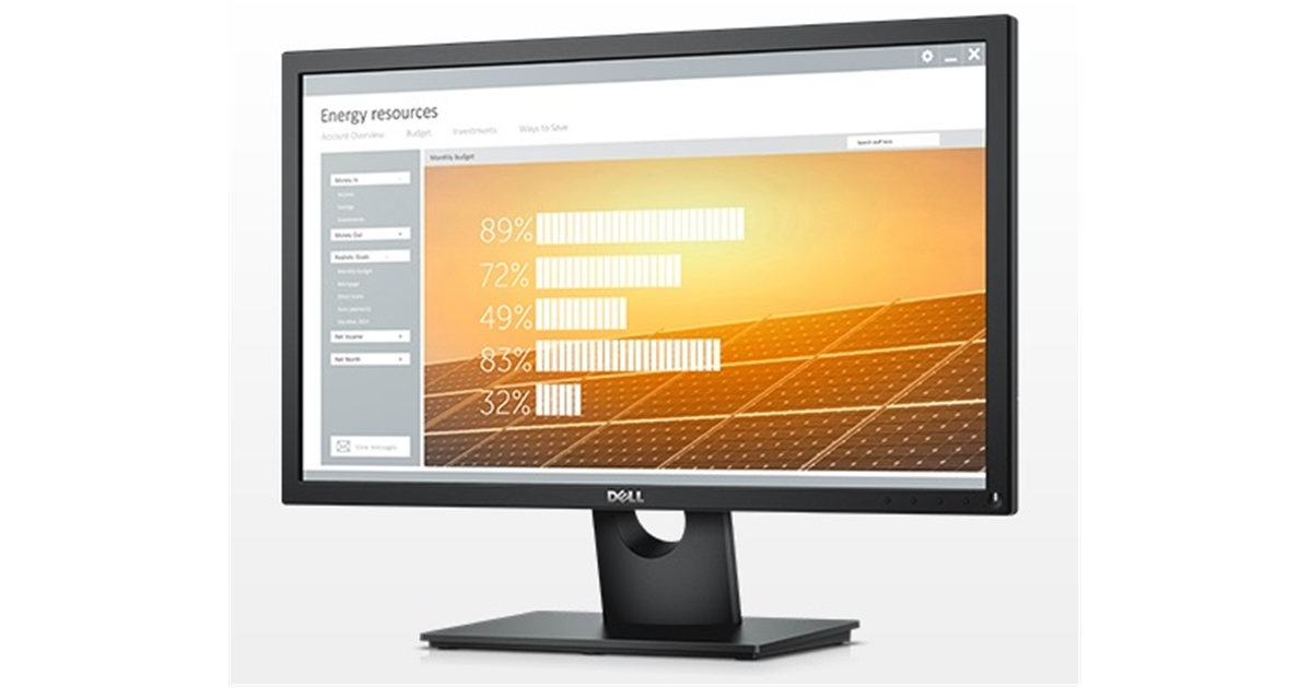 Dell 23 Monitor - E2318H - 58.4cm(23) Black ISR