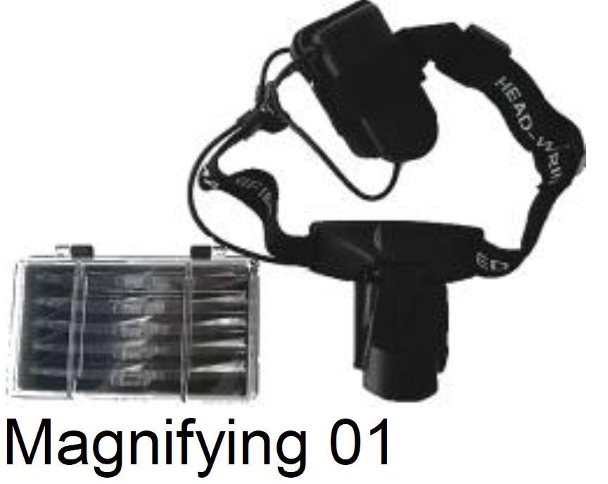 Magnifying 01 משקפי מגדלת עם תאורה