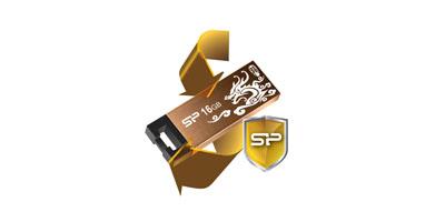 זכרון נייד SILICON POWER TOUCH 836 USB 2.0 8GB - אופנתי בצבע נחושת