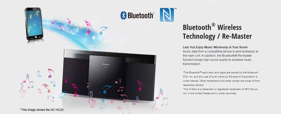 מערכת סטריאו מיקרו PANASONIC SC-HC29 - Bluetooth