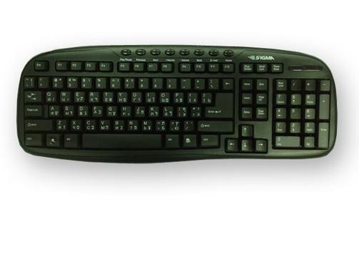 סט עכבר+ מקלדת USB מבית SIGMA - עברית/אנגלית/רוסית