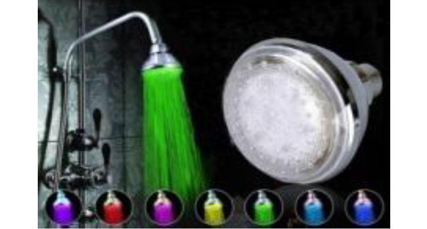Gadget: 7 Color Change LED Light Bathroom ראש מקלחת עם תאורה לדים