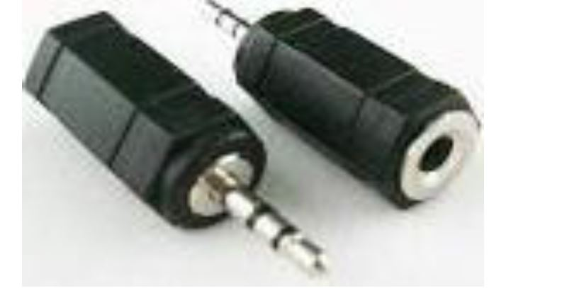 Converter 3.5mm Female to 2.5mm Male מתאם PL3.5 נקבה לPL2.5 זכר