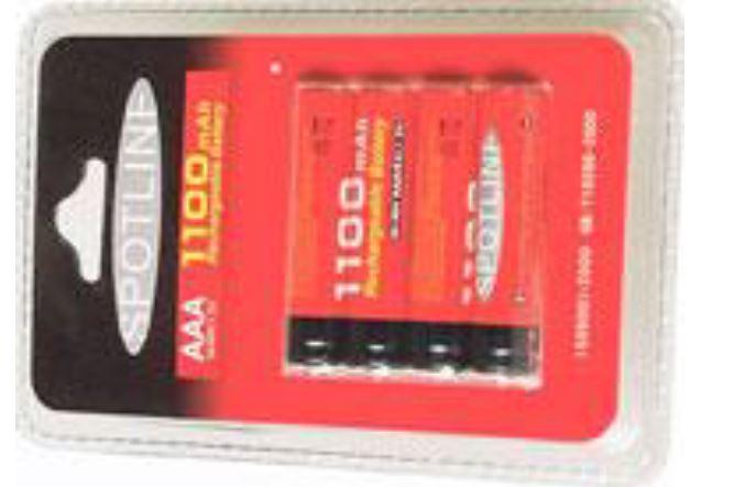 Battery 1100 mA סוללות נטענות 4 יד