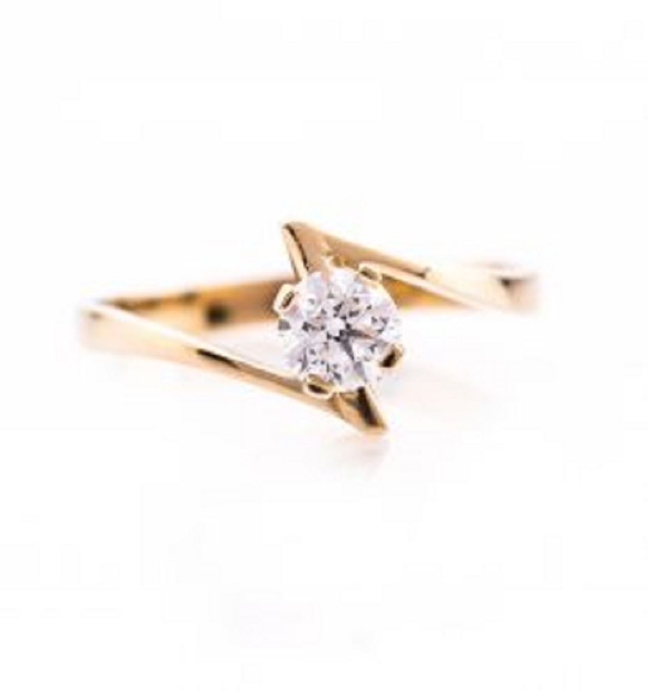 R0144GD טבעת יהלום טבעת אירוסין