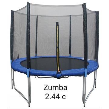 טרמפולינה 2.44 מטר 10 פיט zumb
