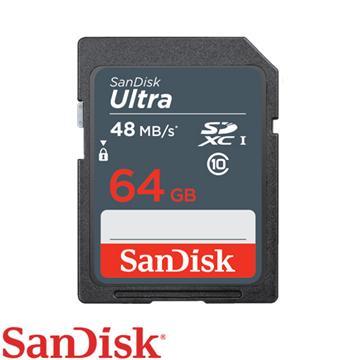 כרטיס זיכרון SanDisk Ultra SDSDUNB-064G 64GB SD סנדיסק