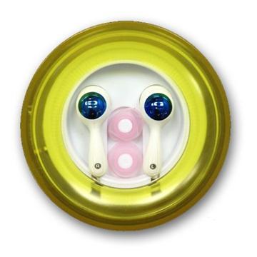 אוזניות סיליקון כפתור - צהוב