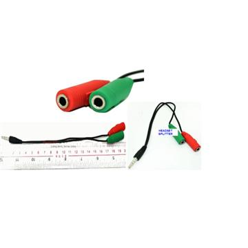 Headset Splitter Adapter - כבל מפצל 3.5 מ