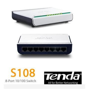 רכזת רשת TENDA S108 8PORT 10-100