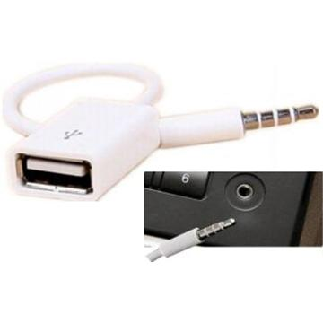 USB Car Audio aux cable מתאם USB ל-Aux
