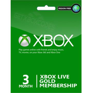 Xbox Live Gold 3 Months Microsoft