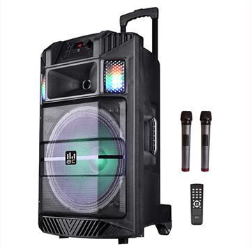 בידורית קריוקי ניידת עם 2 מיקרופונים ואורות לד AC-BL15L Pluse