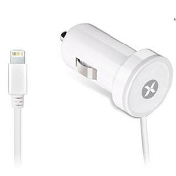 Dexim - Car Charger iPhone 5/6/6Plus - 2.4A - White