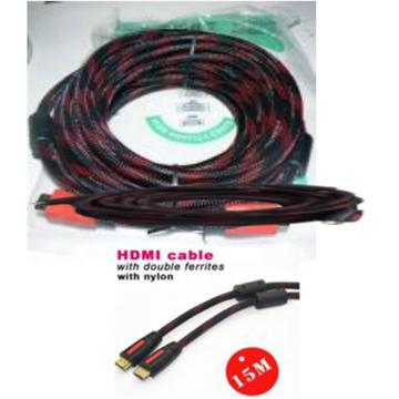 Cable nylon with ferrite core HDMI - HDMI 7M