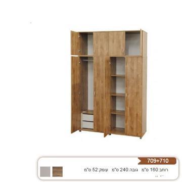 ארון 4 דלתות איכותי דגם 709+710 רהיטי יראון
