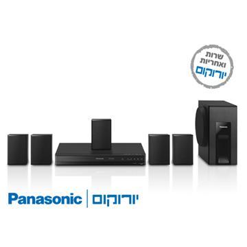 DVD משולב מגבר+רמקולים  Panasonic SCXH105 קולנוע ביתי פנסוניק