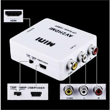 AV To HDMI Converter - Mini AV to HDMI 1080P