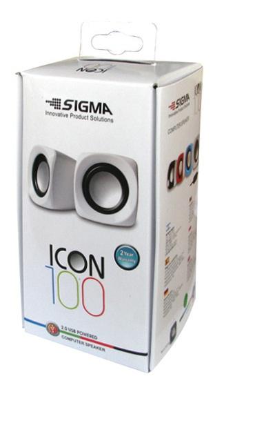רמקולים מולטימדיה למחשב נייד/שולחני - חיבור USB - דגם ICON100 מבית SIGMA