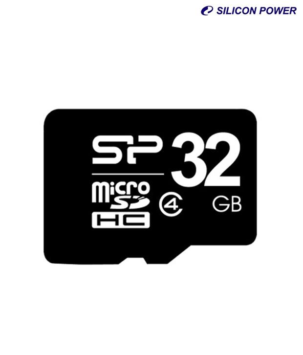 כרטיס זיכרון Silicon Power Micro SDHC 32 GB - Class 4
