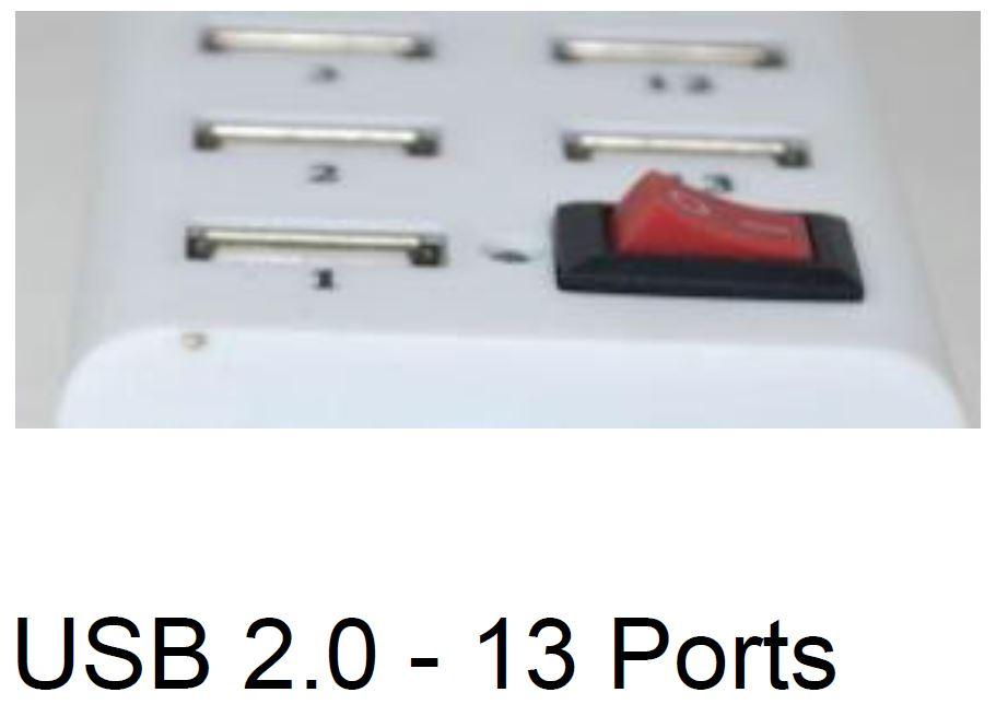 USB 2.0 - 13 Ports מפצל USB 2.0 עם 13 כניסות