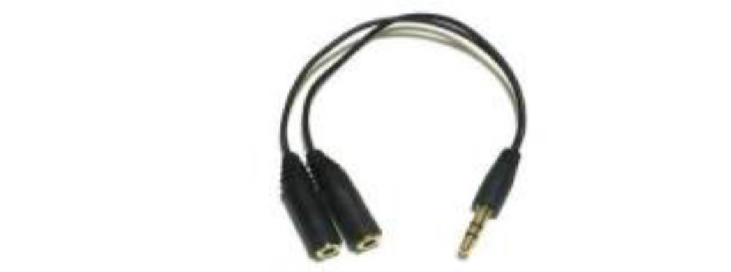 One Male to two Female 3.5 mm Y-Cable (15 cm) מתאם 3.5 זכר - x2 נקבה 3.5