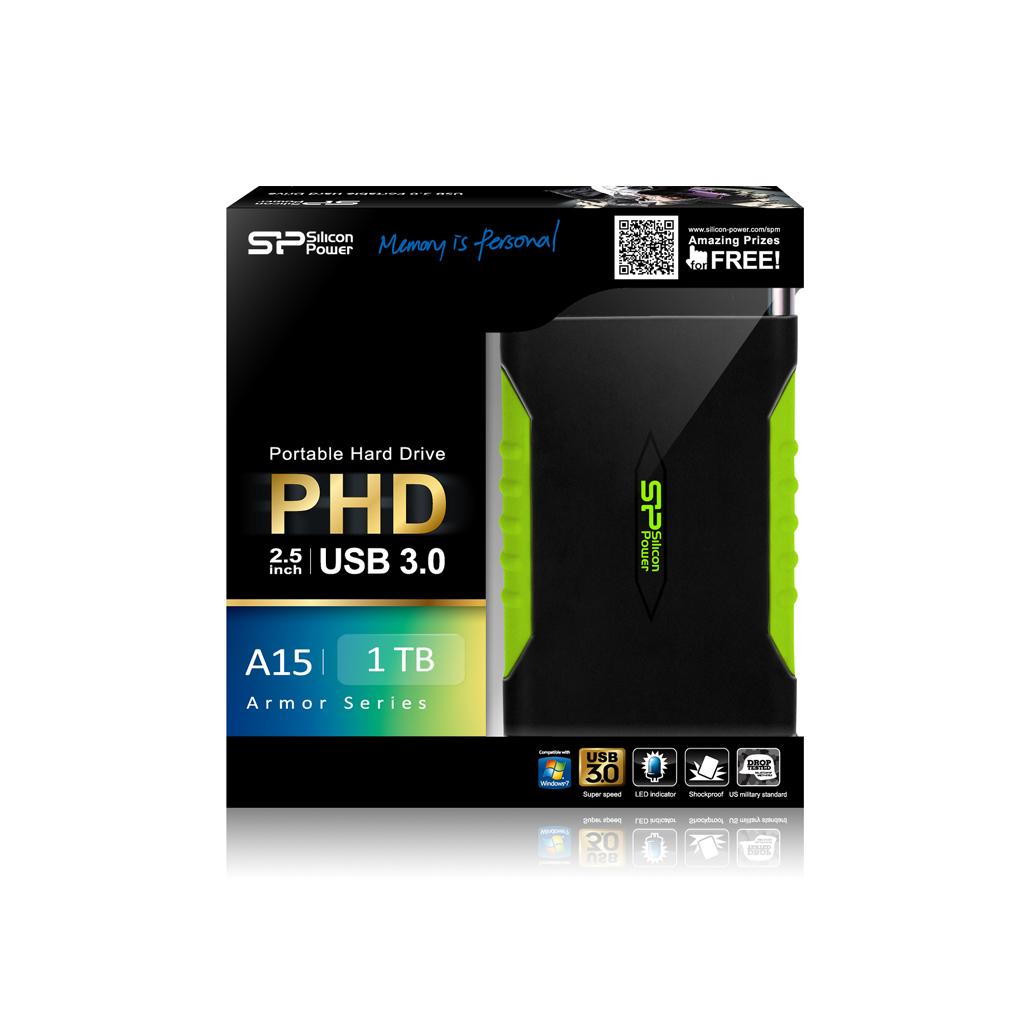 כונן קשיח חיצוני Silicon Power External Hard Drive A15 1TB  - משלוח חינם עם שליח