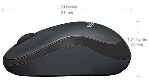 עכבר M220 אלחוטי SILENT  צבע שחור