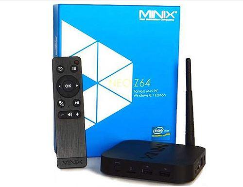 סטרימר MINIX NEO Z64 Win 10  קופסת טלויזיה חכמה + שלט