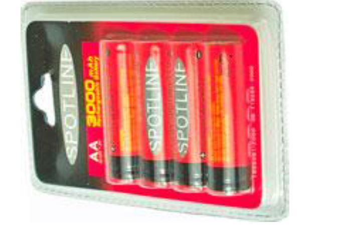 Battery 3000 mA סוללות נטענות 4 יח