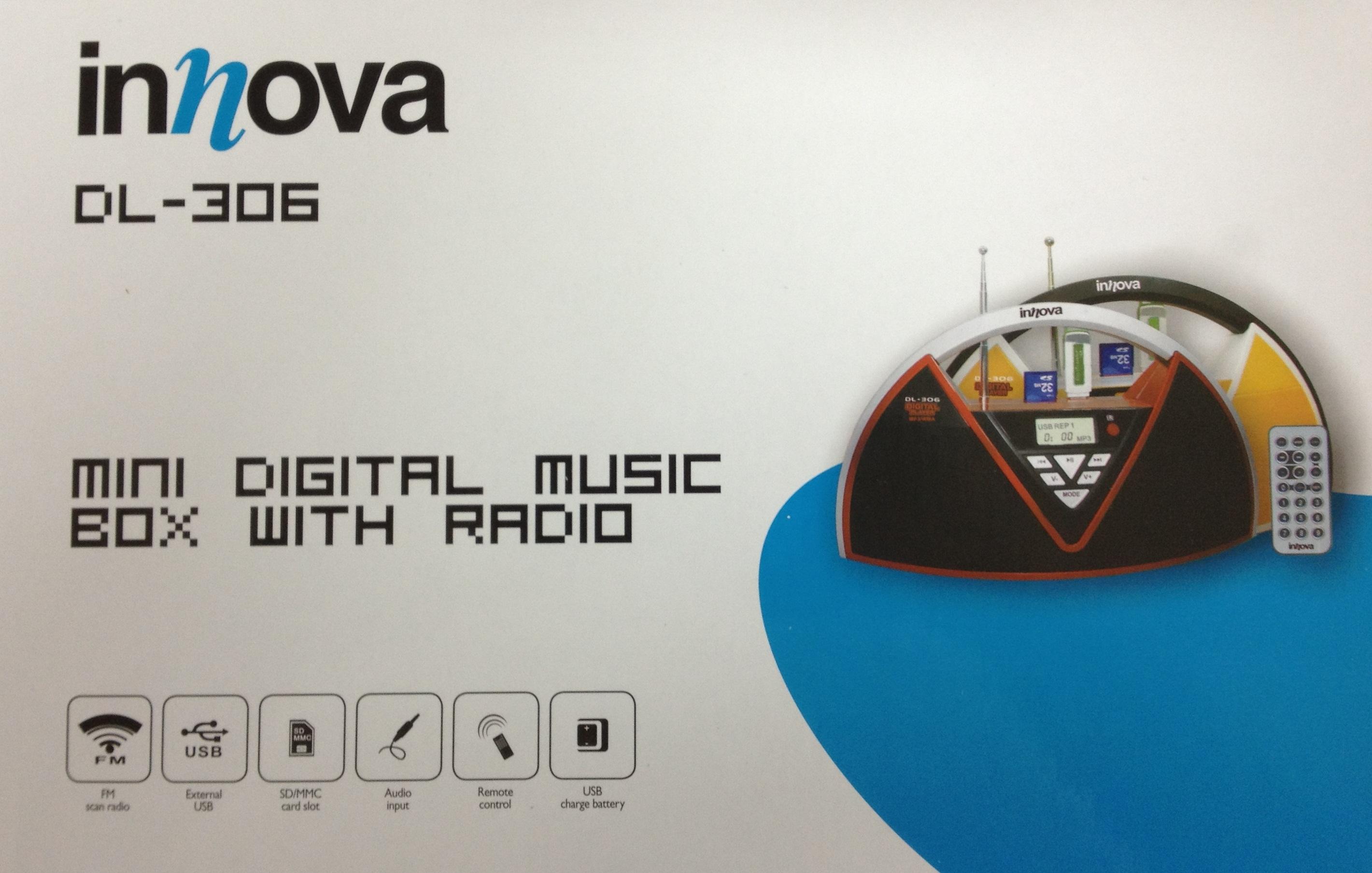 רמקול נייד לנגן/אייפון - INNOVA DL306