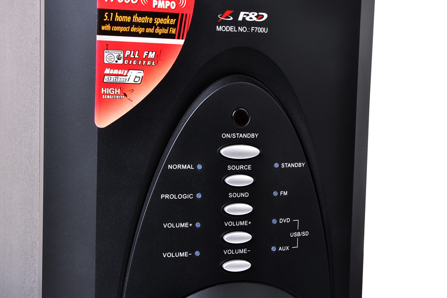 סט רמקולים למערכת קולנוע 5.1 FENDA F700U