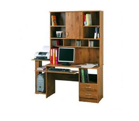 שולחן מחשב עם ספריה דגם 220