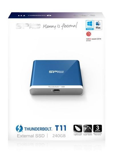 כונן קשיח חיצוני SILICON POWER THUNDERBOLT T11 EXTERNAL SSD  240GB