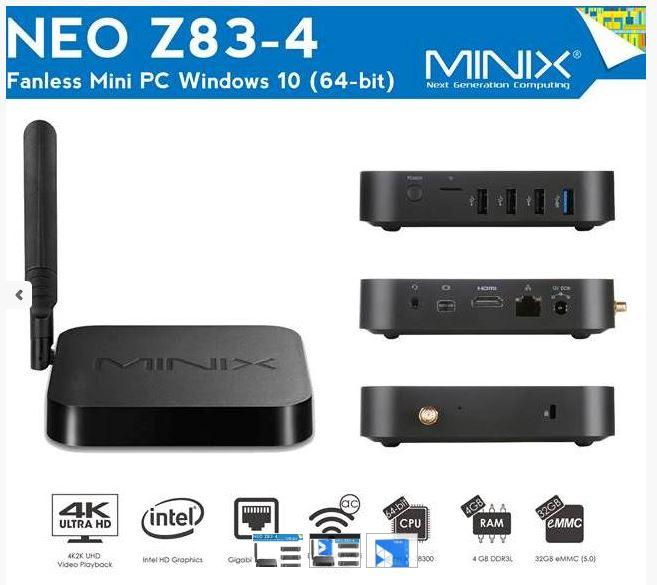 סטרימר MINIX NEO Z83-4 Windows 10