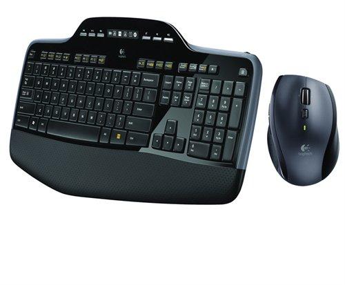 סט מקלדת + עכבר אלחוטי  Wireless Desktop MK710