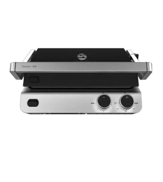 טוסטר גריל מקצועי עם פלטות נשלפות STEEL PRO דגם CONTACT GRILL CG1018BK
