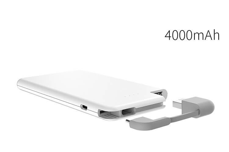 סוללה חיצונית WHITELINE PowerBank 4000mAh
