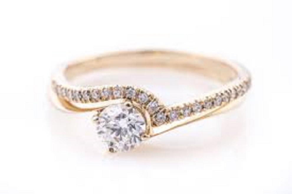R0128GD טבעת יהלום טבעת אירוסין