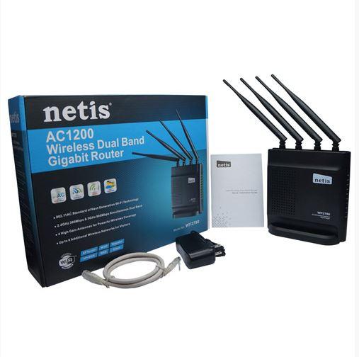 נתב אלחוטי רשת 2 ערוצים מהיר ועוצמתי עד Netis WF2780 1200Mbps