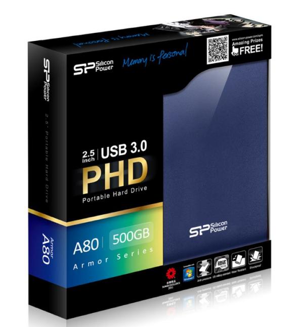 כונן קשיח SILICON POWER USB 3.0 PORTABLE HD A80 500GB