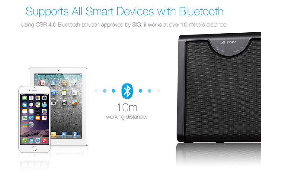 סט רמקולים למערכת קולנוע  F&D F2300X 5.1  Bluetooth/USB/SD/FM