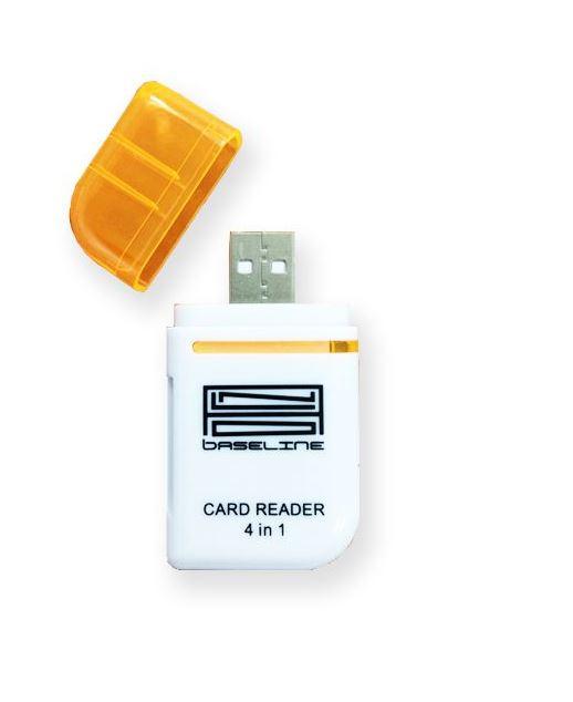 קורא כרטיסים אוניברסלי Silver line All In One Card Reader USB 2.0