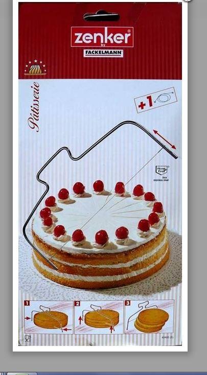 מיישר ופורס עוגה נירוסטה זנקר FACKELMANN איכותי